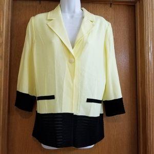 Ming Wang Yellow Black Jacket L